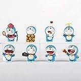 MIRECLE 8 Estilos Anime Doraemon muñeco Coche de Dibujos Animados Modelo de Juguete 5 cm
