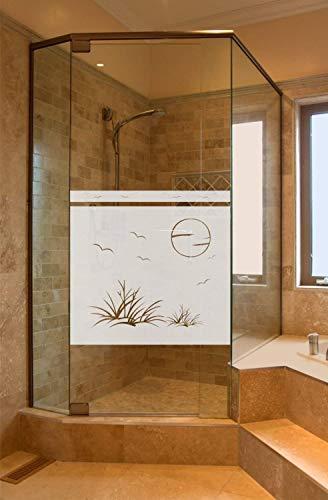 rs-interhandel® Sichtschutz Aufkleber Folie Glasdekorfolie Bad Dusche Duschwand Badezimmer Höhe ca. 50 cm Glasdekor GD37