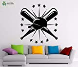 BailongXiao Wandaufkleber Baseball Logo Vinyl wandaufkleber Sportverein innen Fenster Aufkleber kinderzimmer Mode Dekoration Junge 42x44 cm