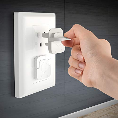 Baby Proofing Outlet Covers 60 Pack Electric Outlet Pulg Covers for Baby Safety Socket Cover Protector Cap to Prevent Your Child from Power Shock Hazard