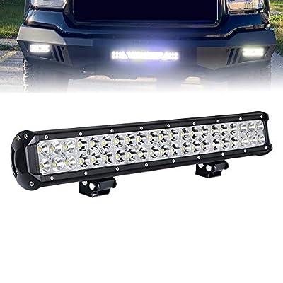 LED Light Bar 20 Inch 126W LED Work Light Spot Flood Combo Led Bar Off Road Lights Driving Lights Led Fog Light Truck Lights Boat Lighting For Ranger RZR Rubicon Tractor ATV UTV Dakota Ram