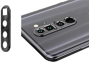 2pcs Metal Aluminum Back Camera Lens Protector Camera Ring Guard Circle Case for Xiaomi Redmi Note 8 Pro Redmi Note8 Pro 6.53inch Black