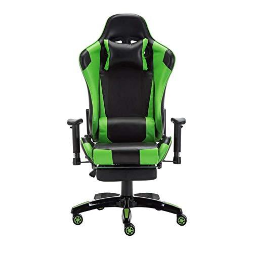 Scra AC Gaming Chair, Corse di Gioco, Sedia e-Sport, reclinabile, Gaming, Sedia Computer, Gioco Chair-Giallo (Color : Green)