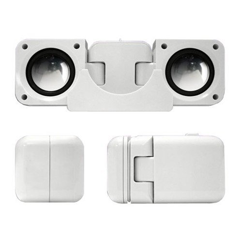 SODIAL(TM) Portable Folding Speakers for iPods & MP3 Players - White