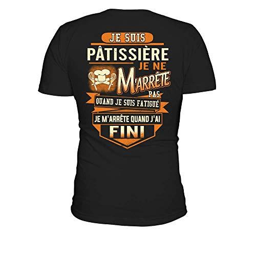 TEEZILY T-Shirt Homme Je suis Pâtissière - Noir - M