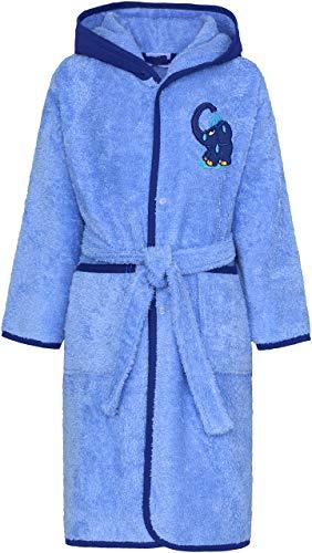 Smithy® Kinder-Bademantel aus 100% Baumwolle – Pflegeleichter Bademantel für Jungen und Mädchen – Original blauer Elefant von Die Sendung mit der Maus
