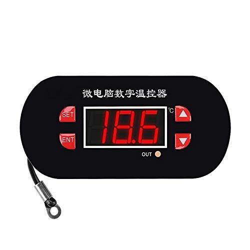 YIBANG-DIANZI Controlador de Temperatura Digital XH-W1308 Interruptor termostato del regulador de Temperatura de la Pantalla roja del Sensor de Calor Digital Ajustable DC 12V con relé de Sensor