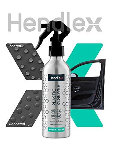 Hendlex Nano Rivestimento Rinnova Plastiche per Pulizia Interni Auto/per Il Rinnovo di Plastiche, Pelle e Pulizia di Vinile/Pulisci – Rinnova - Protezione (200 ml) + Panno in Microfibra (1)