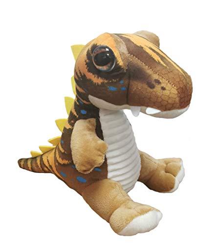 dino Peluche de Dinosaurio T-Rex Tiranosaurus - Calidad Super Soft (20cm, Marrón/Amarillo)