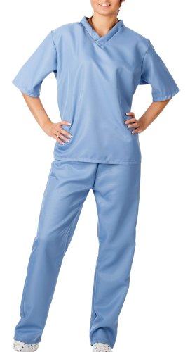 spass42 Damen Kostüm OP Kittel Chirurg Anzug Arzt Ärztin Uniform Doktor Spiele Krankenschwester Halloween Groesse: S/M
