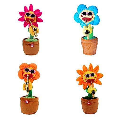 SM SunniMix Set of 4 Green Plants, Dancing Doll Toys, Counter Ornaments