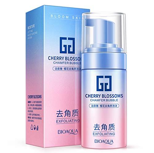 BIOAQUA Cherry Blossoms Exfoliating Oil Moisture Foam Bubble Cleansing Glycerin Tender Skin 120Ml