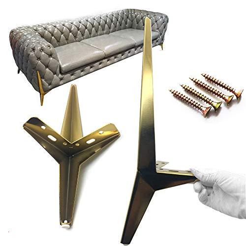4x Gold Metallmöbel Stützfüße Tragfähigkeit 1000 Kg Stützbeine Für Kommode Soderhamn-Sofa Schrankfußhocker Stehtisch Bankbeine