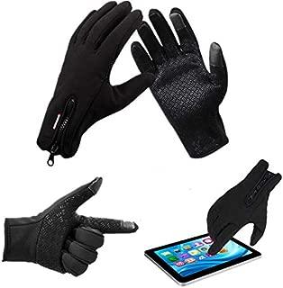 Winter Sports Bike Skiing Touch Screen Windproof Fleece Gloves - Black M