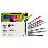 Mont Marte Rotuladores de Colores - 54 piezas con Doble Punta - Marcador ideal para Colorear, Escribir a Mano y Caligrafía en adultos - Perfecto para Principiantes, Adultos, Artistas