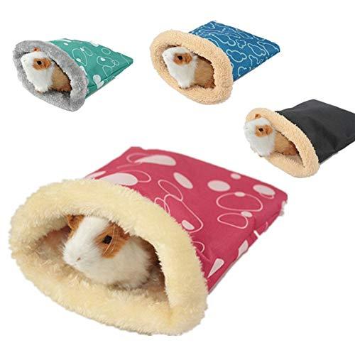 Niulyled Hamsterhaus - Winter Warm Fleece Kleines Haustier Bett Eichhörnchen Igel Chinchilla Kaninchen Meerschweinchen Schlafsack Nest Hamster Zubehör