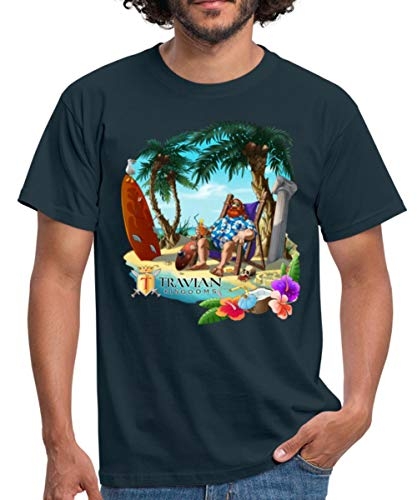 Hawaii Travian Kingdoms Männer T-Shirt, 4XL, Navy