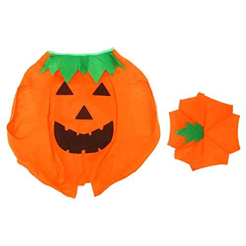 VORCOOL Lustige Kinder Halloween Laterne Gesicht citrouille-Vlies-Kostüm camicia automne auf mit Hut (arancione)