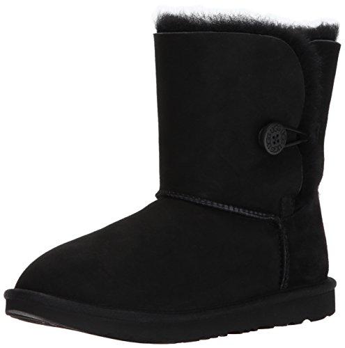UGG Kid's Female Bailey Button II Classic Boot, Black, 4 (UK)