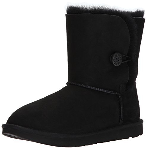 UGG unisex child Bailey Button Ii Boot, Black, 3 Little Kid US