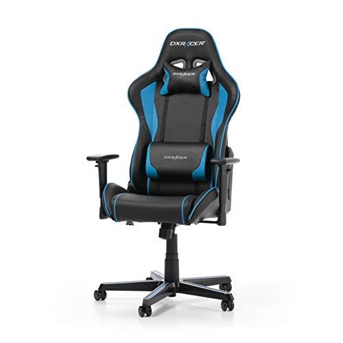 DXRacer Formula Series F08-NB Gaming Stuhl aus Kunstleder, Schwarz-Blau