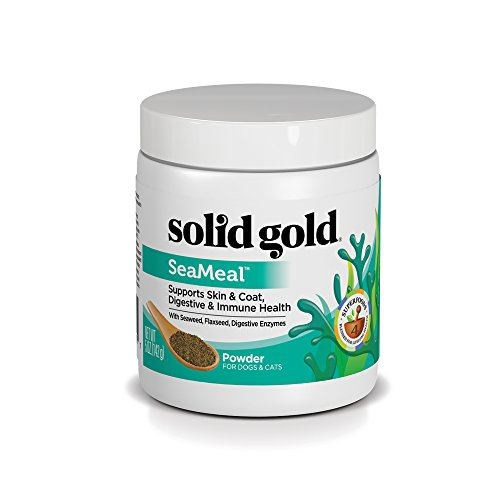 Solid Gold SeaMeal Kelp-Based Supplement for Skin & Coat, Digestive & Immune Health in Dogs & Cats; Natural, Holistic…
