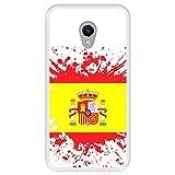 Hapdey silikon Hülle für [ Meizu M5s ] Design [ Illustrationssymbol 1, Flagge von Spanien ] Transparenz Flexibles TPU