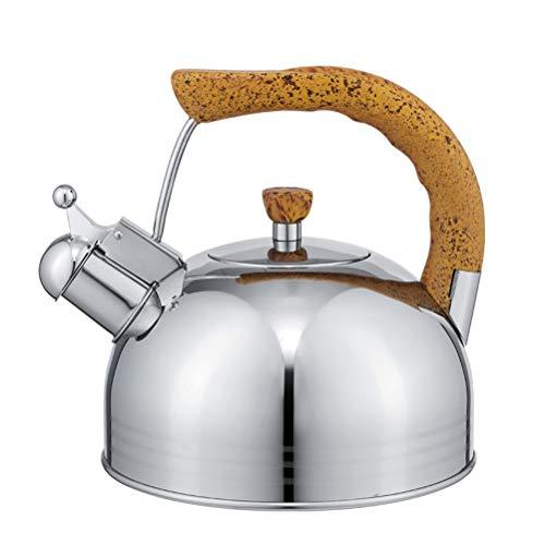 the teapot company Hervidor de té con silbido de Acero Inoxidable quirúrgico de 2.5 Cuarto de Gallo, para la Cocina de la Cocina