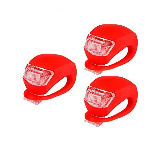 kashyk 3PCS LED Fahrradlicht Set,StVZO Zugelassen ahrradlichter Fahrradlampe Set,3 Licht Modi,Wasserdicht Frontlicht & Rücklicht Lampenset
