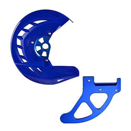 KIILING Protector de protección del Disco del Freno Delantero Trasero para Husqvarna Te Fe TC FC TX FX FX FS TX 250 300 350 450 449 450 480 501 510-650 2004-2014 (Color : Blue)