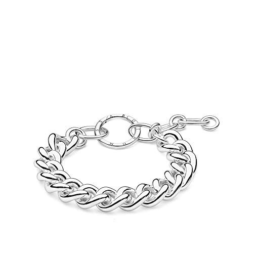 Thomas Sabo Sterling Silver Thomas Sabo Circle Chain Bracelet A1820-001-21-L19v