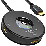 HDMI Switch HDMI 4K@60Hz | Meofia 3 Entradas 1 Salida Duplicador HDMI 2.0 con Cable, Soporta 4K, 1080P, 3D, UHD, Conmutador HDMI Splitter Automatico para BLU-Ray/DVD player/SKY-STB/PS4/PS3/XBOX/Roku