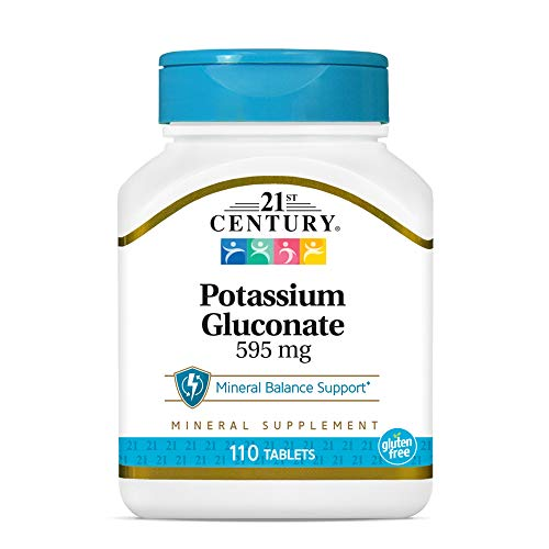 21st Century Potassium 595 mg Tablets, 110 Count (Pack of 3)