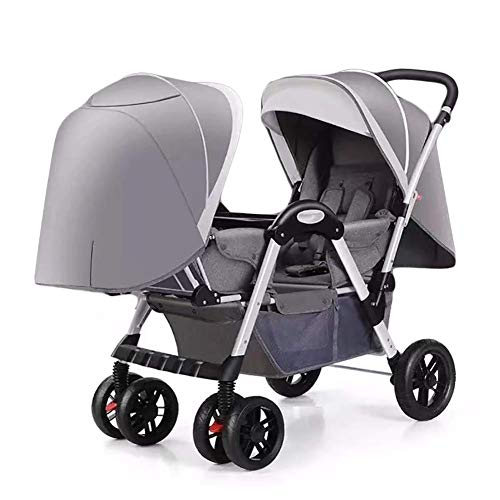 Buy Twin Baby Strollers Pram for Boys and Girls with Adjustable Backrest Double Face to Face with Sh...