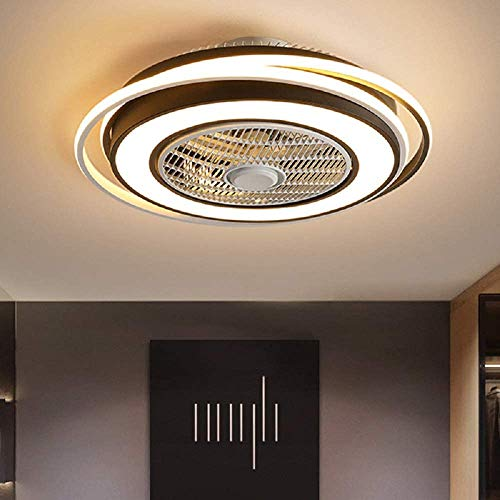 KWOKING Lighting Modern Dimmable Acrylic Ceiling Fans with...