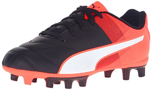 PUMA Adreno II Fg Jr Soccer Shoe (Little Kid/Big Kid),Puma Black/Puma White,11 M US Little Kid