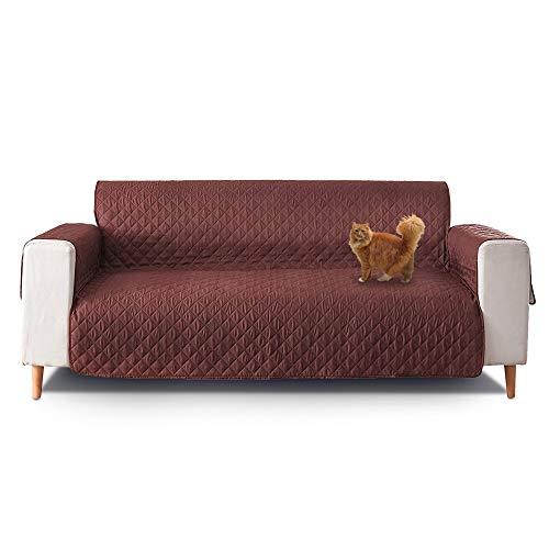 Funda Cubre Sofá de 2 Plazas, Protector para Sofás, Sofa Cover, Color Marrón