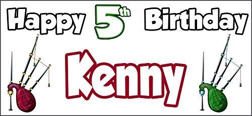 Póster personalizable de Bagpipes Escocia Feliz 5º cumpleaños – Poster – Decoraciones...