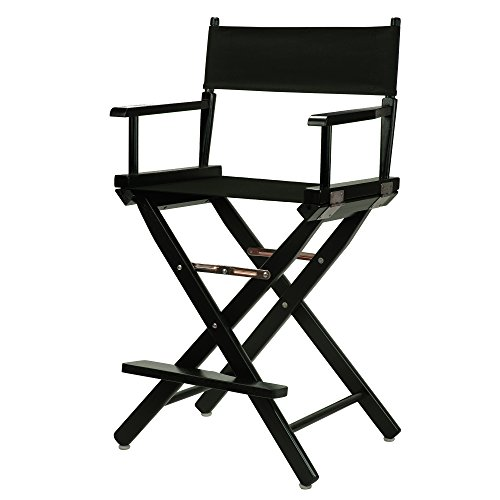 Casual Home 24' Director's Chair Black Frame-with Black Canvas, Counter Height
