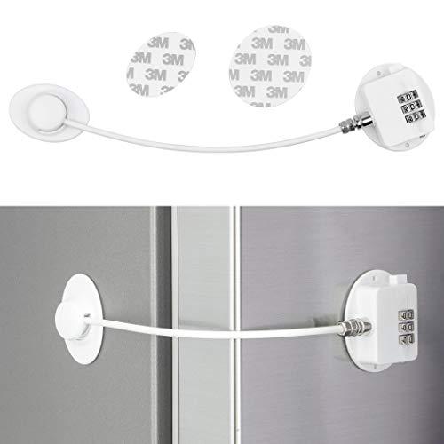 Cerraduras de combinación para armarios, armarios, frigoríficos y congeladores, cerraduras de seguridad para niños, seguridad para el hogar, adhesivo 3M, sin residuos, blanco