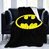 Batman Fleece Blanket Ultra-Soft Micro Blankets for Couch Or Bed Soft and Warm Throw Blanket (80' x 60') Queen-Size for Adults