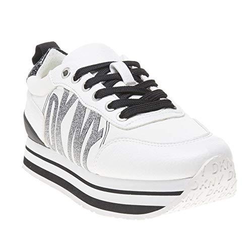 DKNY Damen Panya Joggingschuhe Sneaker Weiß 39 EU