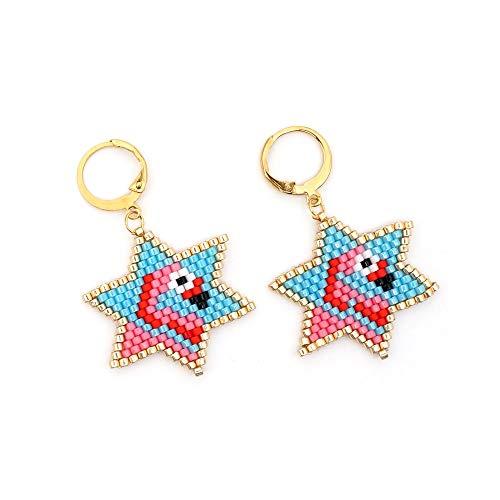 RQZQ oorbel Groothandel Oorbellen Flamingo Patroon Zaad Kralen Mode Juwelen