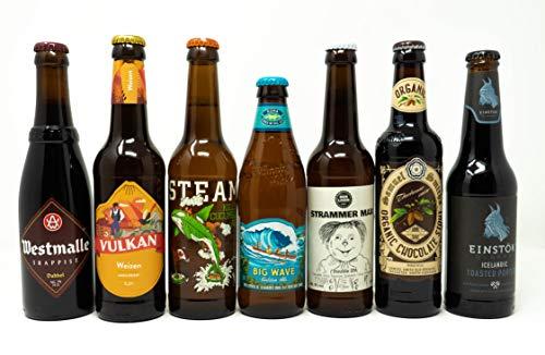 Bier aus aller Welt - Set aus 7 verschiedenen Bieren aus 6 unterschiedlichen Ländern - Geschmackserlebnis für jeden Bierliebhaber - Biere aus Island, UK, Kanda, Hawaii und mehr