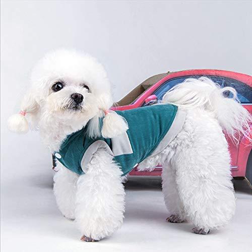 DAUERHAFT Disfraz casero de Ropa para Perros y Gatos, Ropa de algodón para Mascotas pequeñas, Mantiene el Perro abrigado en(Blue, 4XL)