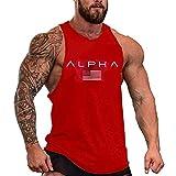 HOTCAT Homme Musculation Débardeur sans Manche Maillot de Corps Tank Top Stretch Fitness Gym Stringer