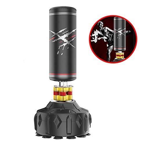 Boxen Boxsäcke Boxsack Taekwondo Tumbler Boxsack Kinder Fitness Vertikale Tasche Trainingsgeräte Pedestal Beutel (Farbe: Schwarz, Größe: 65 * 180cm) plm46 (Color : Black, Size : 65 * 180cm)