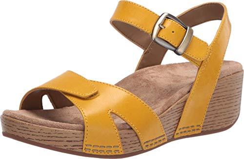 Dansko Women's Laurie Yellow Wedge Sandal 7.5-8 M US