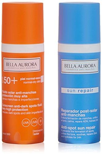 Bella Aurora Fluido Antimanchas SPF50 Y Reparador Solar - Set de 2 (Total 100 ml.)