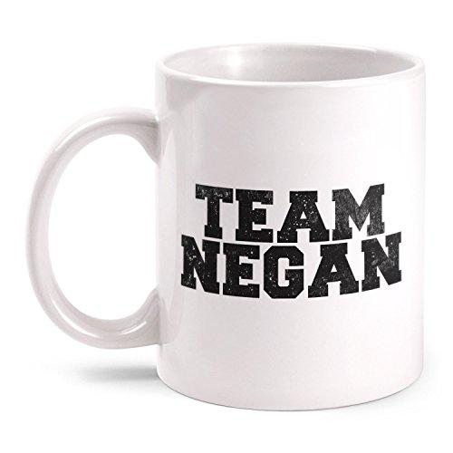 Fashionalarm Tasse Team Negan beidseitig bedruckt mit Motiv zur Serie T-W-D   Geschenk Idee Fans   Dead Walking Lucille Saviors Baseballschläger, Farbe:weiß